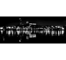 Under Armour at Night B&W Photographic Print