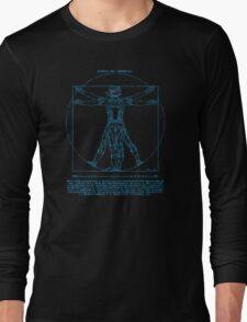 Vitruvian Cyborg Long Sleeve T-Shirt