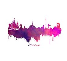 Moskwa skyline city Photographic Print