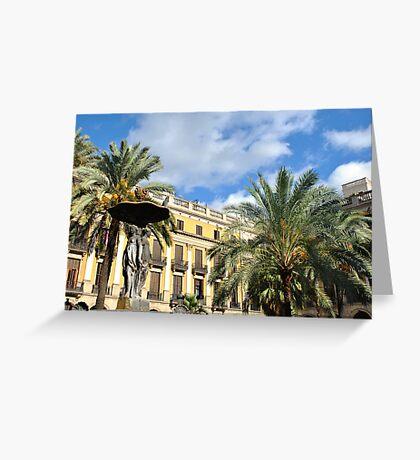 Plaza Real Greeting Card