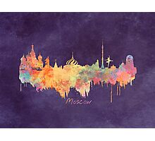 Moscow skyline by night Photographic Print