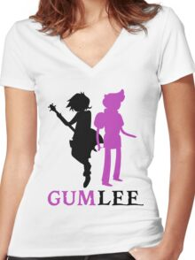 GUMLEE! Women's Fitted V-Neck T-Shirt