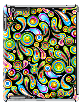 Abstract Colorful Drops by BluedarkArt