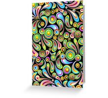 Abstract Colorful Drops Greeting Card