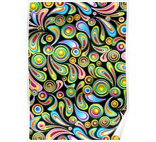 Abstract Colorful Drops Poster