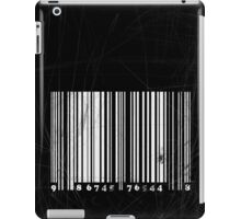 BW bar code iPad Case/Skin