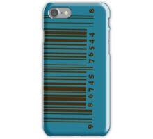 Bar code on blue iPhone Case/Skin