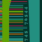 Colorful decorative bar code by CatchyLittleArt