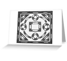 Black & White Symmetrical Box Design Greeting Card