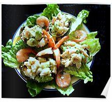 Shrimp Stuffed Avocado Salad Poster