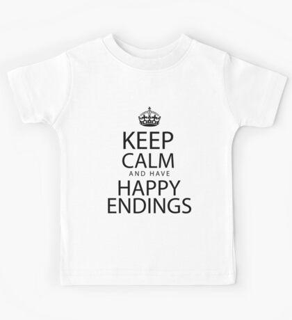 Keep calm and have happy endings Kids Tee
