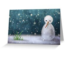 End of Winter Greeting Card