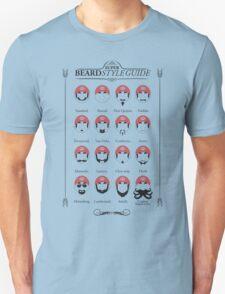Super Mario - Beard Style Guide T-Shirt