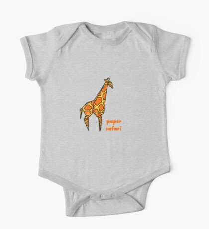 Paper Safari (giraffe) One Piece - Short Sleeve