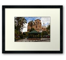 Parque Calderon, Cuenca, Ecuador Framed Print