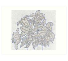 Pale Lillies Art Print