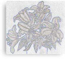 Pale Lillies Canvas Print