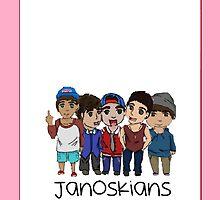 Janoskians Cartoon iPhone/iPod Case by dream--catch3r