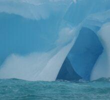At the waterline -- iceberg detail Sticker