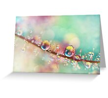 Rainbow Smoke Drops Greeting Card