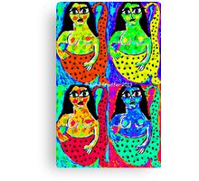 Pop Art Mermaids Canvas Print
