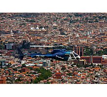 Helicopter Over Cuenca Photographic Print