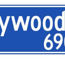 Hollywood Boulevard, Los Angeles Street Sign, USA Sticker