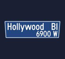 Hollywood Boulevard, Los Angeles Street Sign, USA Kids Tee
