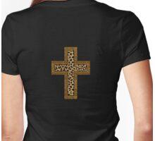 Cheetah Jaguar Print Crucifix T-Shirt Womens Fitted T-Shirt