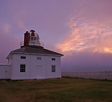 The old light at Cape Spear -- sunrise by Jean Knowles
