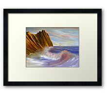 Crashing Shoreline Framed Print