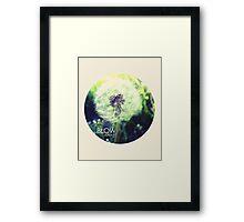 Blow Away Framed Print