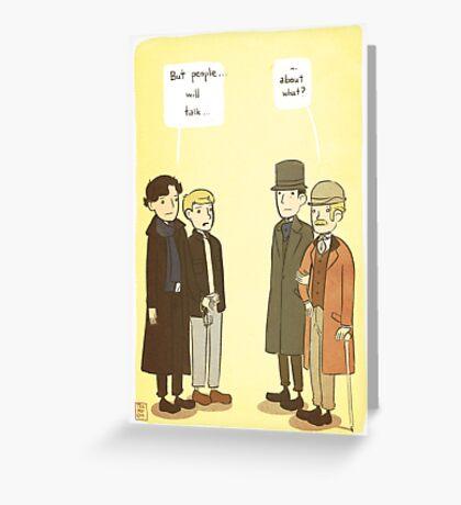 People will talk Greeting Card