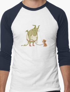 A demon and his dog... Men's Baseball ¾ T-Shirt