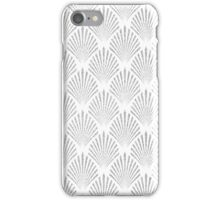 white and silver iPhone Case/Skin