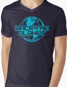 Hack the Planet Mens V-Neck T-Shirt