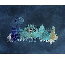 Prague skyline city blue Photographic Print