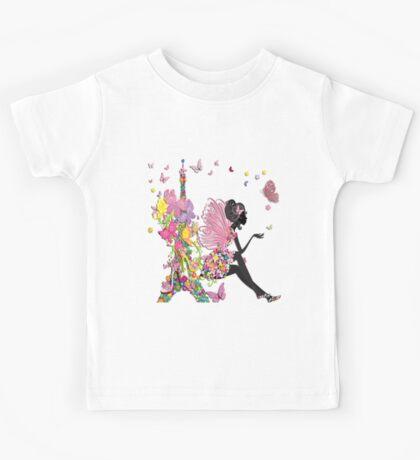 Fashion Girl in Paris Kids Tee