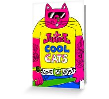Cool Cats - Yellow / Justice Cat Greeting Card