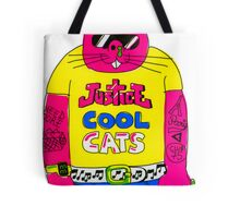 Cool Cats - Yellow / Justice Cat Tote Bag