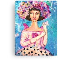 VIOLETS LOVE GIFT Canvas Print