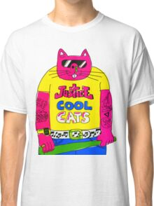 Cool Cats - Yellow / Justice Cat Classic T-Shirt
