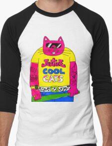 Cool Cats - Yellow / Justice Cat Men's Baseball ¾ T-Shirt