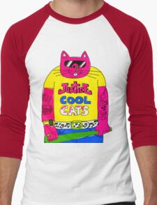 Cool Cats - Yellow / Justice Cat Men's Baseball ¾ T-Shirt