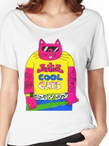 Cool Cats - Yellow / Justice Cat Women's Relaxed Fit T-Shirt