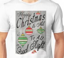 Christmas Typography Poster Unisex T-Shirt