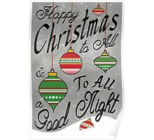Christmas Typography Poster Poster