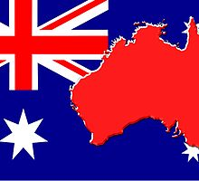 The map, flag of Australia by alexmak