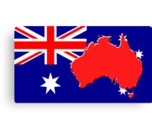 The map, flag of Australia Canvas Print