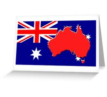 The map, flag of Australia Greeting Card